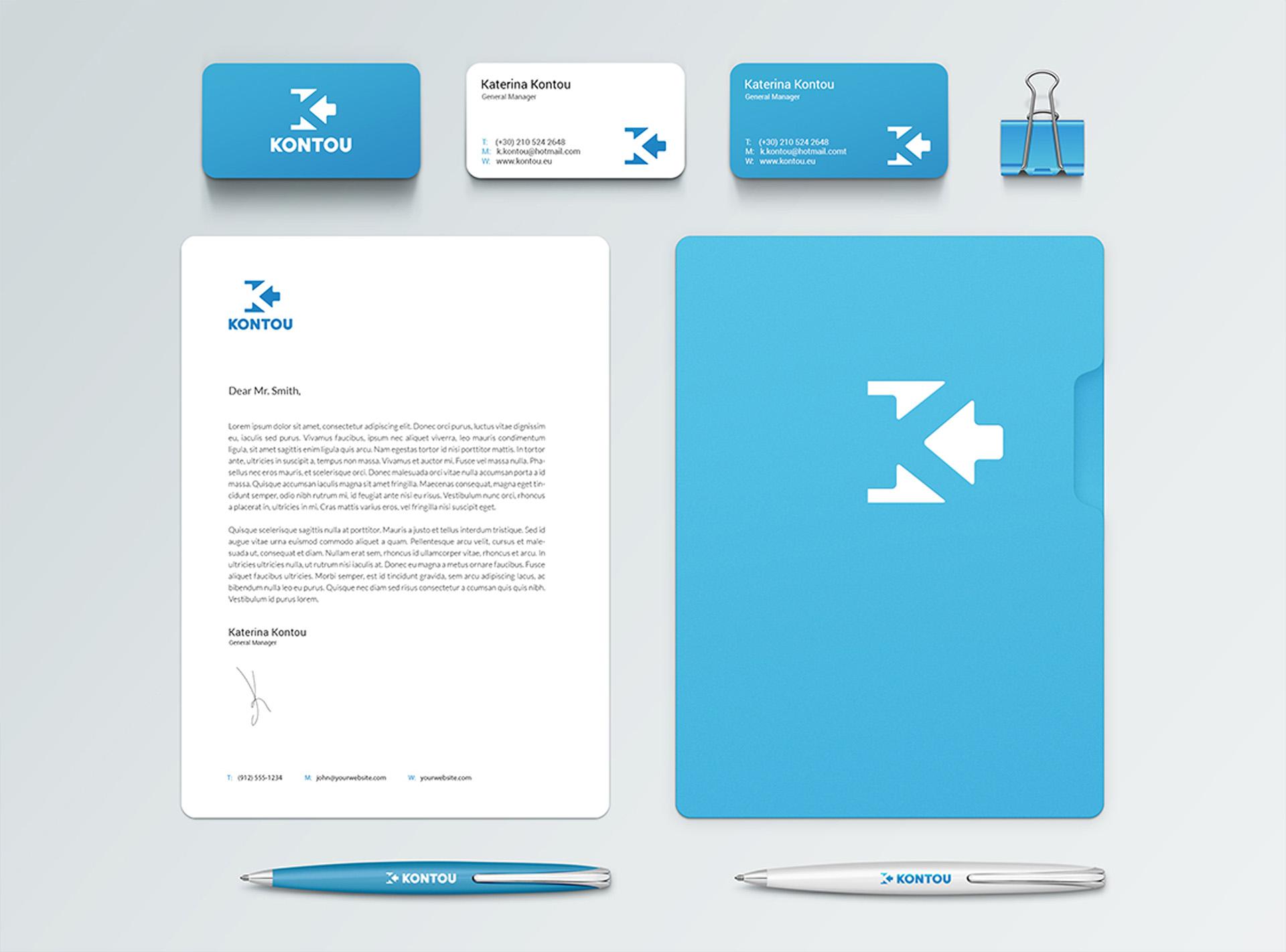 Kontou client branding corporate | Develop Greece