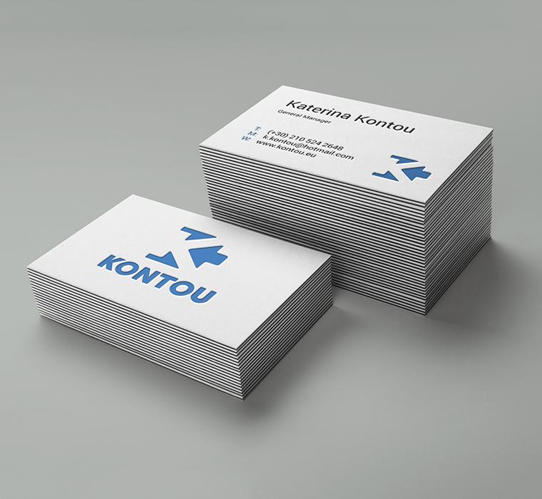 kontou client business card | Develop Greece