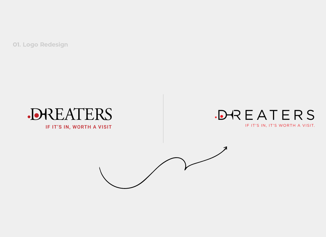 Dreaters logo redesign