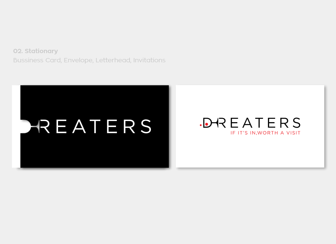 Dreaters business card envelope