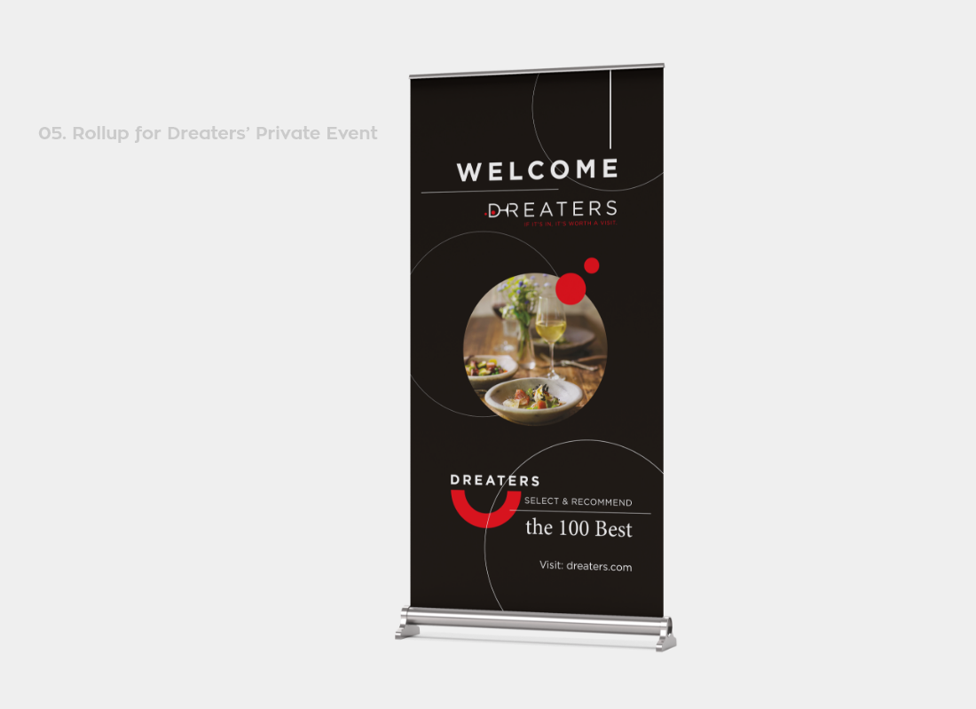 Dreaters welcome banner in private event
